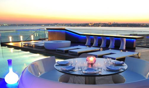 Rooftop Bar Istanbul - 360 Istanbul Gives You A Nice View Of The City Below