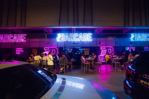 Best Bars in Kuala Lumpur - Barcade KL Has Bright Pink And Blue Neon Lights