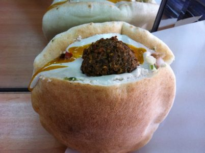 Food in Jerusalem - Falafel Brothers Levy is Located in Shuk Machane Yehuda Area