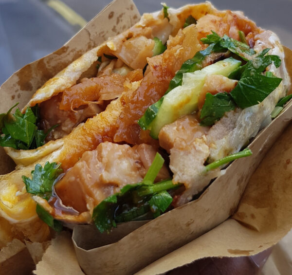 Cheap Places to Eat in London - JIAN BING WRAP is Chinese Version of A Crepe With Meat Inside
