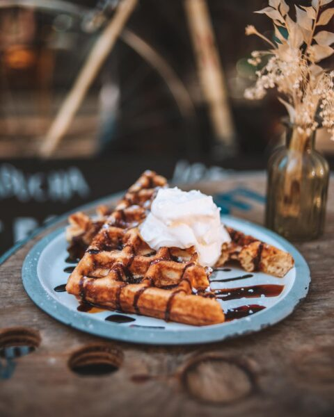 Best Cafes in Paris - Le Peloton Café Offers Great Waffles And is About Coffee & Cycling