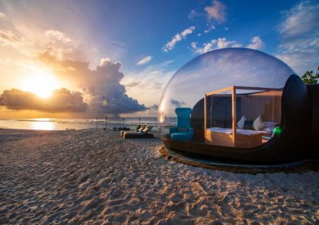 7 Most Unique Hotels Around the World - Beach Bubble Maldives is Located at Finolhu Resort