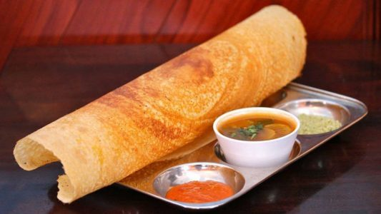 Cheap Places to Eat in Dubai - Masala Dosa at Saravanaa Bhavan Also Try Indian Chappathis