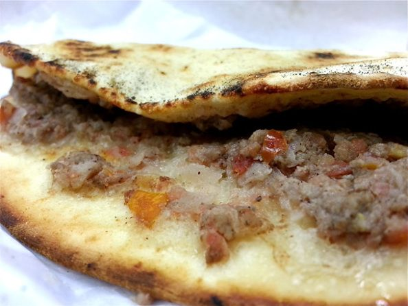 Budget Food UAE - Small Mini Pizza at Al Reef Lebanese Bakery Try Their Hotdogs And Pizzas Too