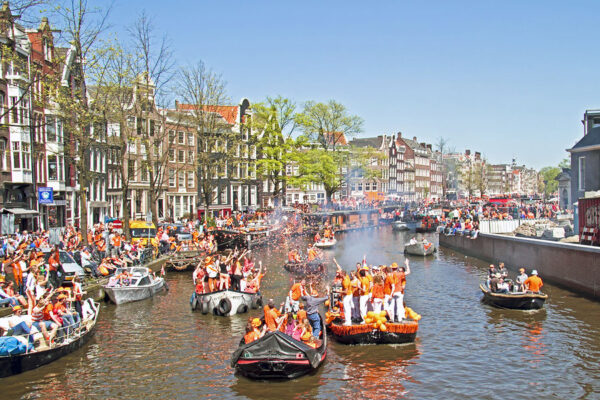 Netherlands Tourist Guide - Kings Day Amsterdam Where People Wear Orange Color