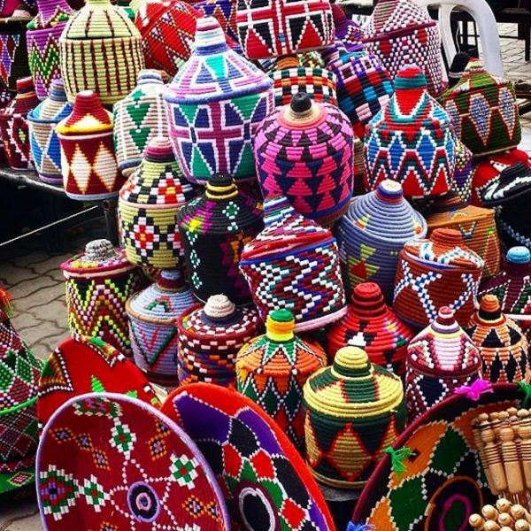 Africa Travel Tips - Berber baskets Are Used in Restaurants And Storing Items Inside