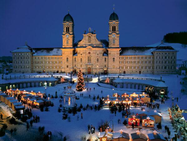 Switzerland Christmas Town - Einsiedeln is Good For Winter Sport Near Hoch Ybrig Area
