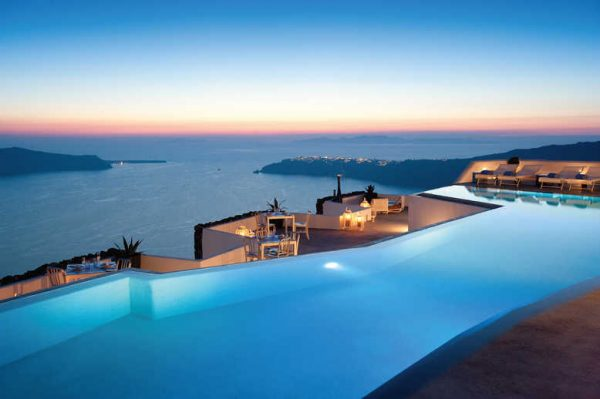 Best Pools in The World - Grace Santorini to See The Blue of The Aegean Sea