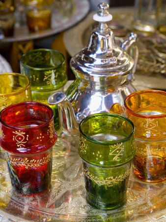 Morocco Souvenirs - Green Glass & Tableware From Beldi Glass Company