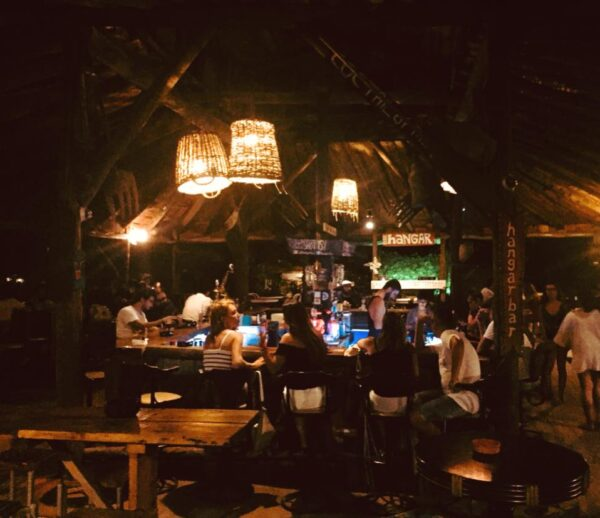 Best Bars in Antalya - Hangar Bar is A Beach Style Bar With Wooden Decoration