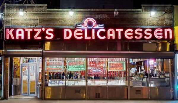 Sightseeing NYC - Katz's Delicatessen is Where to Get A Hot Pastrami Sandwich.