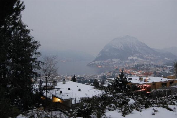 Switzerland Christmas Town - Lugano Has Swiss & Italian Mountain Ranges
