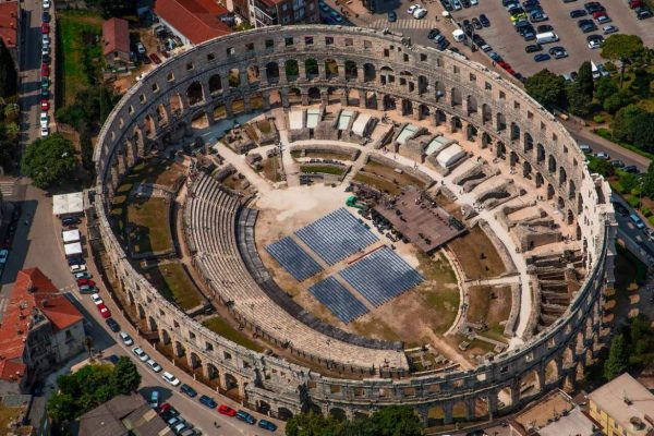 Most Beautiful Places in Croatia - Pula Has Roman arena Resembling The Coliseum of Rome