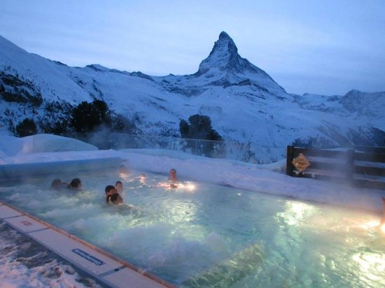 10 Most Stunning Pools Around the World - The Cambrian Hotel is in Switzerland