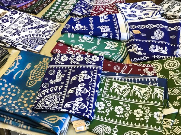 Souvenirs in Georgia - Traditional Blue & Modern Tablecloth Are Major Part of The Local Culture
