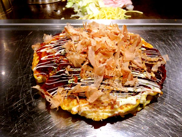 Best Japanese Street Food in Tokyo -Okonomiyaki Are kind of Pancakes With Meat And Vegetable