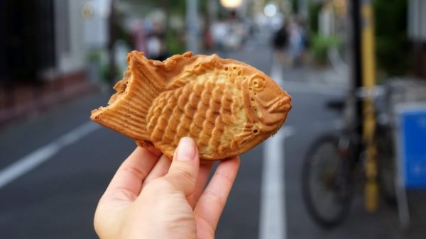 Best Japanese Street Food in Tokyo - Taiyaki Traditionally Filled With Red Bean Paste