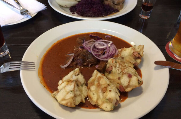 Cheap Food in Prague - Pod Vyšehradem is Famous For Their Pork And Chicken Schnitzel