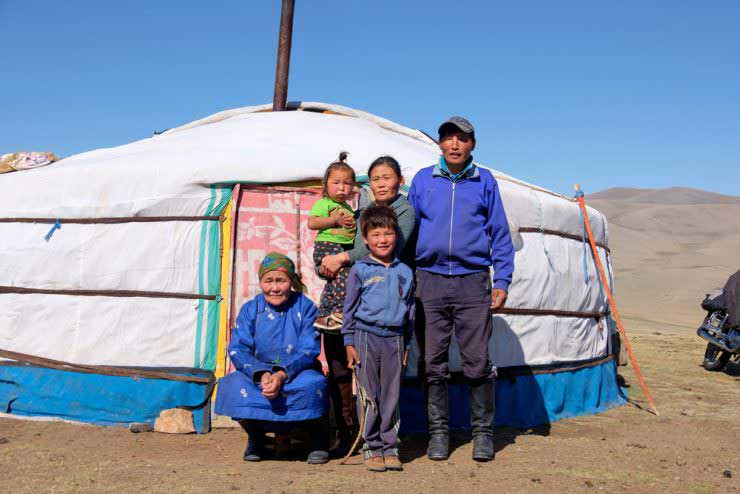 Mongolian nomadic tents