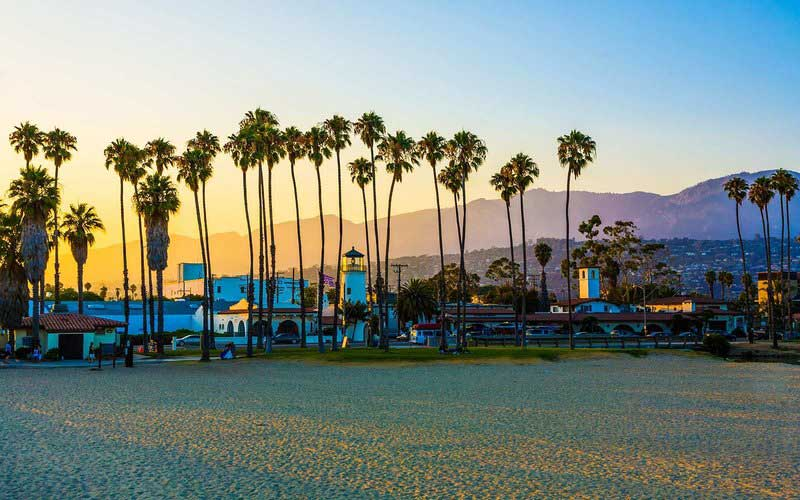 Santa Barbra is One of Subtropical Beaches of America - Romantic Places in America