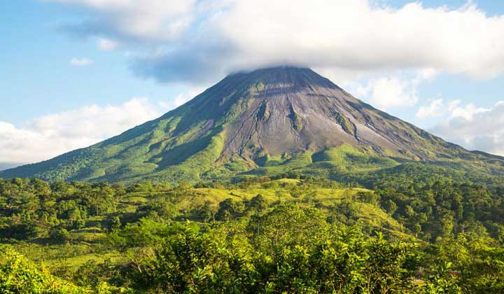 Arenal Volcano is an active volcano that is located in the Alajuela Province, Costa Rica