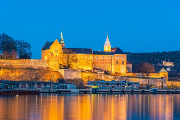 Oslo Tourist Attractions - Akershus Fortress is Located on Top of Oslofjord River