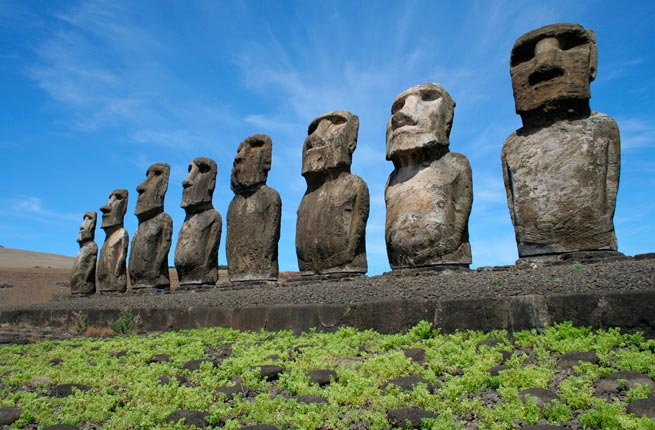 Landmarks of The World - Moai has Human Faces Are Carved by The Rapa Nui People
