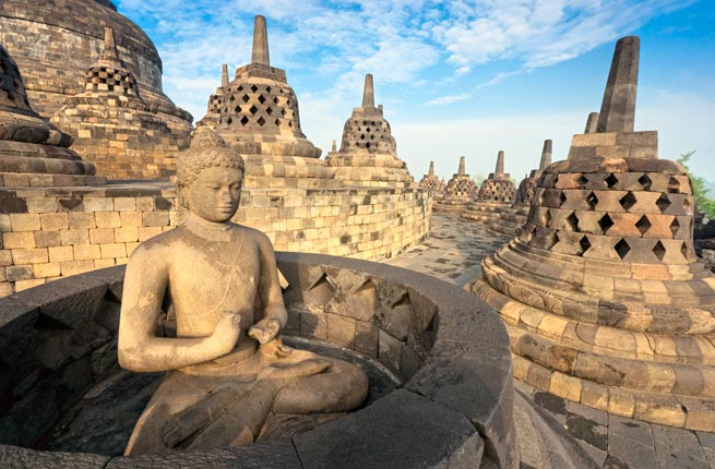 Wonderful and spectacular ruins all over the world, borobudur-indonesia