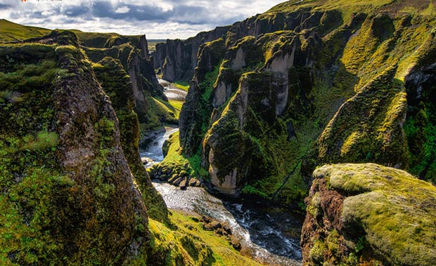 Sightseeing Places to See Before You Die - Fjaðrárgljúfur Canyon is A Valley in Eastern South Side of Iceland