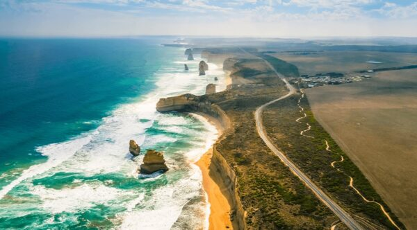 Best Roads in The World - Great Ocean Road is Stretched Along The Southeastern Coast of Australia