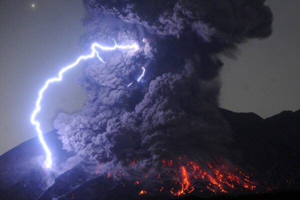 5 Most Famous Volcanoes in Japan - Sakurajima Overlooks The City of Kagoshima