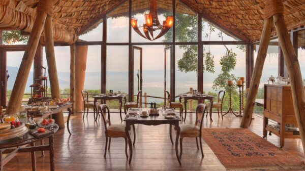 The Most Beautiful Restaurants in The World - Ngorongoro Crater Lodge Faces Fascinating Landscapes Nearby