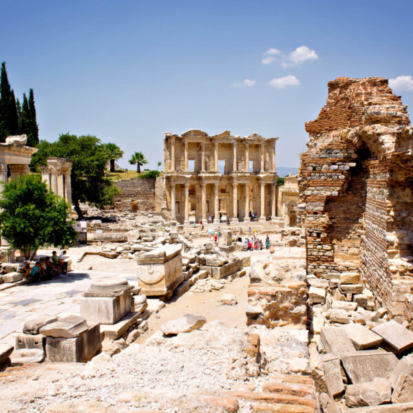 Çeşme Town in Turkey - Ancient Roman Ruins of Ephesus An Amphitheater