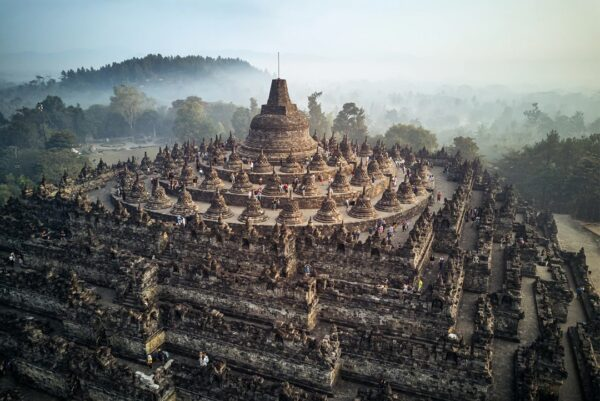Indonesia Temples For Tourists - Borobudur Temple is Located in Central Java