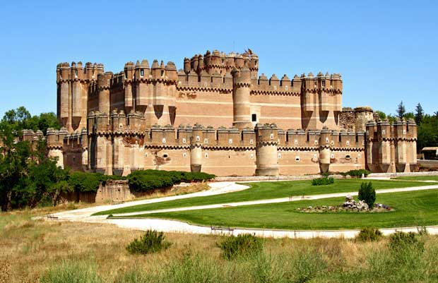 Beautiful Spanish Castles Near Madrid - Castillo de Coca Built By Moorish Artisans