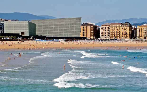 Attractions in San Sebastian - Zurriola beach The Busiest Beach in Town For Surfers
