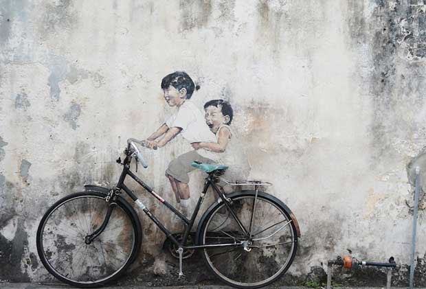 What to Do in Malaysia - Penang Street Art Works of Artist Ernest Zacharevic