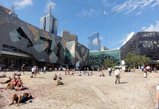 Melbourne Attractions - Fed Square A Central Square For People to Meet