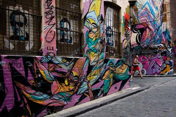 Melbourne Attractions - Hosier Lane A Beautiful Artwork Along The Yara River