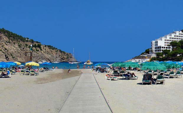 The Best Places in Ibiza to Visit - Cala Llonga With Beautiful White Sandy Beach