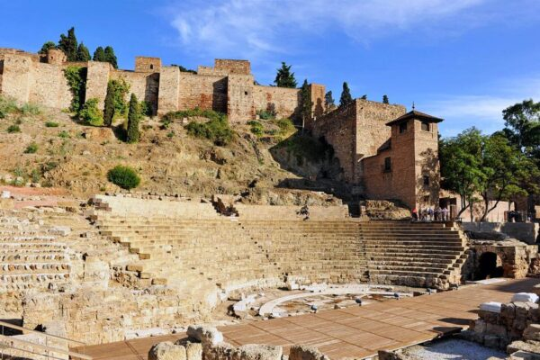 Top Tourist Attractions in Málaga - Alcazaba Situated on Gibralfaro Hill