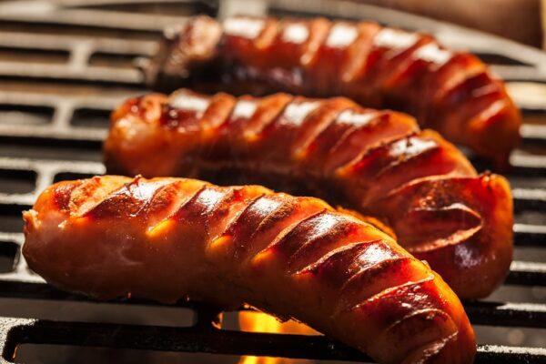 Best Foods to Eat in Prague - Grilované Klobásy Hearty & Filling Grilled Sausages
