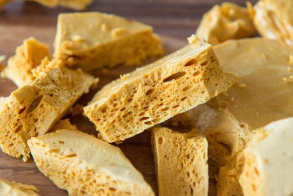 What to Do in Ireland - Honeycomb Toffee Or Yellowman is Hardened Honey Wax