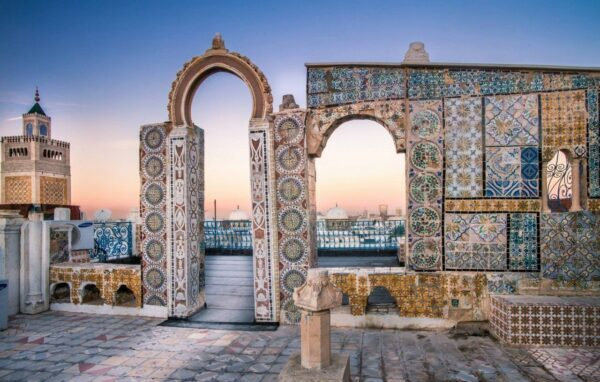 Tourist Attractions in Tunisia - Medina of Tunis With Gate of France or Bab El Bhar