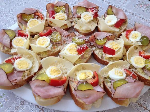Best Foods to Eat in Prague - Obložené chlebíčky Sandwiches For Breakfast & Lunch