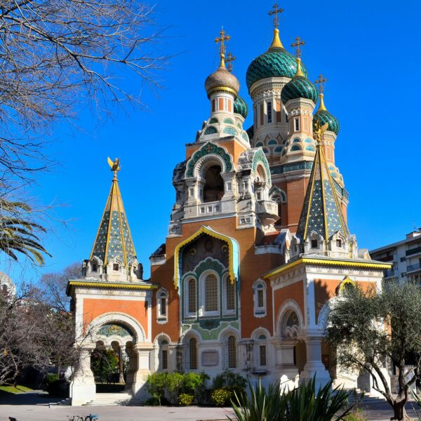 St Nicholas Russian Orthodox Cathedral Houses Russian Religious Objects - Beautiful Tourist Attractions in Nice