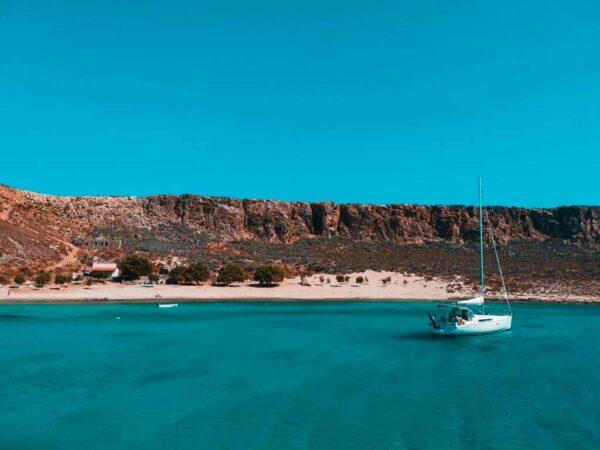 Island Buck List - Balos Beach Located in Crete of Greece Good For Sunbathing