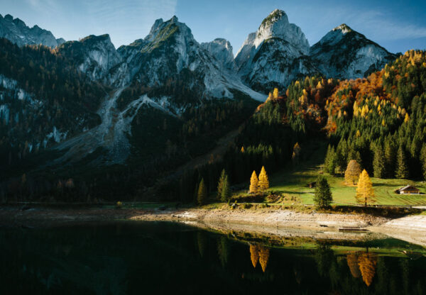 Most Beautiful Lakes in Austria - Gosauseen Located Near Dachstein mMountains