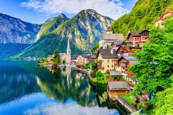 Most Beautiful Lakes in Austria - Hallstatt Lake is Near The Oldest Village in The Country