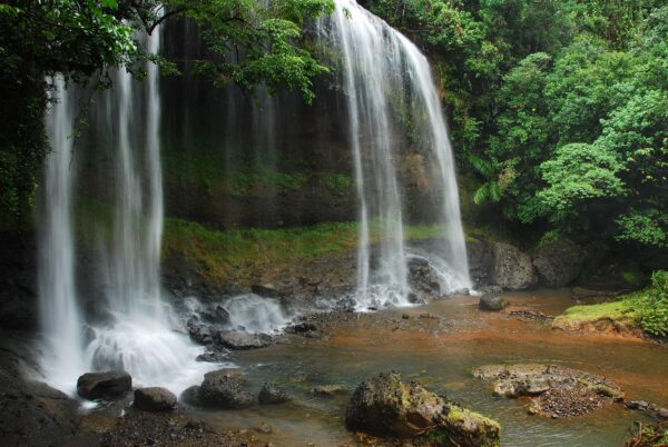 Travel Tips Oceania - Ngardmau Waterfall Originated From Highest Peak of The County